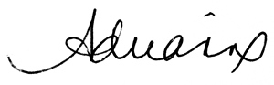 Adrianne Finley Odell Signature